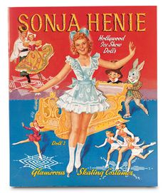 Sonja Henie paper doll, sold by Dollmasters - reprints of vintage paper dolls.