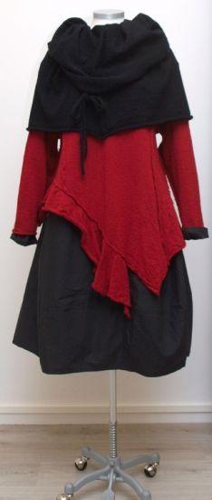 barbara speer - Pullover Zipfeln gekochte Wolle red - Winter 2015 - stilecht - mode für frauen mit format...