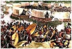 South Africa.Battle of Blood River: In the early hours of the morning of 16 December 1838, a battle was fought between the Voortrekkers, under the leadership of Andries Pretorius, and the AmaZulu warriors near the Ncome (Buffalo) River. Dingane was the King of the Zulu's at the time and most historians site that his army was led by King Dingane's generals Dambuza (Nzobo) and Ndlela kaSompisi.