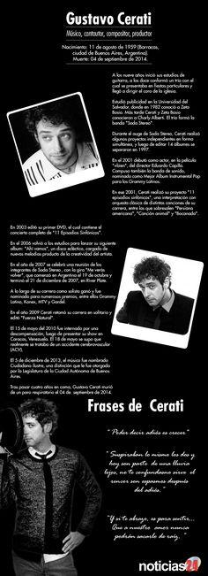 """Gustavo Cerati, un artista al que la música le dará por siempre """"gracias totales"""" (+infografía) Soda Stereo, Music Rock, My Music, Perfect Love, My Love, Rock Argentino, Ron Woods, Jeff Buckley, Famous Words"""