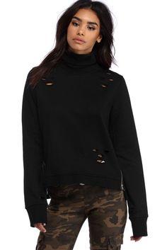 Black Zip And Destruct Pullover | WindsorCloud