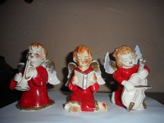 VINTAGE 1940-50'S MUSICAL CHRISTMAS ANGELS FIGURINES -MADE IN JAPAN 3-ANGELS | Collectibles, Decorative Collectibles, Figurines | eBay!