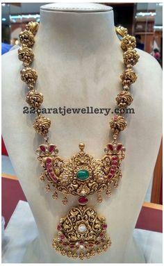 Antique Jewellery Designs, Gold Earrings Designs, Gold Jewellery Design, Antique Jewelry, Gold Designs, Antique Necklace, Necklace Designs, Gold Temple Jewellery, Gold Jewelry