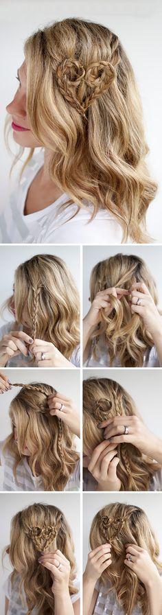 Örgülü ve Kalpli Saç Modelleri #örgü #bayan #sacmodelleri #moda #örgü