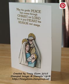 Decoupage Christmas card created using the Gentle Peace Stamp Set from Stampin'…
