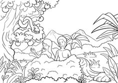 Adam and Eve Tempted by the Serpent coloring page from Adam and Eve category. Select from 26278 printable crafts of cartoons, nature, animals, Bible and many more.