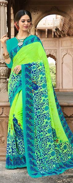 Women's Georgette Saree #saree #indian #indianfashion #ad #fashion