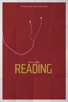reading minimal poster