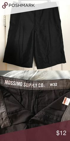 Mossimo size 32 shorts New without tags. Men's size 32 black and gray shorts. Mossimo Supply Co. Shorts Flat Front