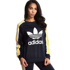 adidas Space Shifter Sweatshirt (145 BRL) ❤ liked on Polyvore featuring  tops, hoodies, sweatshirts, adidas pullover, galaxy pullover, galaxy sweats…