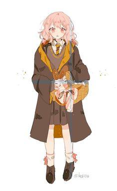 Harry Potter Girl, Harry Potter Artwork, Harry Potter Drawings, Harry Potter Hermione, Harry Potter Anime, Harry Potter Planner, Character Art, Character Design, Desenhos Harry Potter