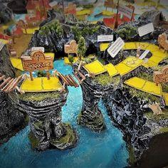 Az Ezüst-tó kincse társasjáték terepasztala