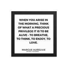 42    Marcus Aurelius Quotes   Framed Print    200107    Stoic Quotes