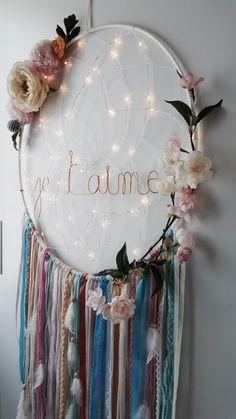 Sur le blog! Anniversaire de mariage, attrape reves boheme - #decoracion #homedecor #muebles