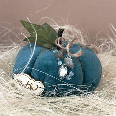 Velvet Pumpkins, Fall Pumpkins, Fall Decor, Farmhouse Decor, Coconut, Teal, Crafty, Decorations, Navy