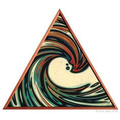 """Here's a triangle piece from 2015. """"Liquid Space Time Vortex 5"""""""