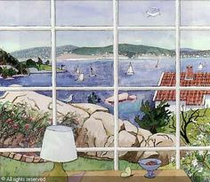 Ferdinand Finne (1910 – 1999) Famous Artwork, Ferdinand, Norway, Watercolor, Room, House, Painting, Kunst, Pen And Wash