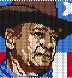 John Wayne (Multi /Brick Stitch Pattern)                                                                                                                                                      More