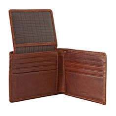 Fossil Estate Zip Passcase Wallet (two bill compartments)
