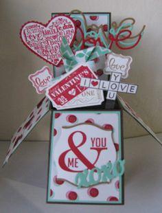 Valentine Card in a Box.  So much fun to make.