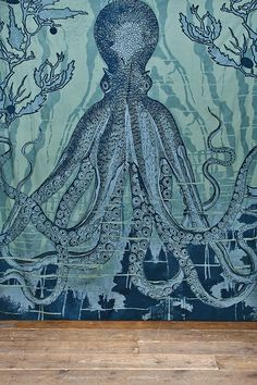 Octopus Tapestry Throw in Blue http://uoeur.pe/uohomewares #Home #UrbanOutfittersEurope