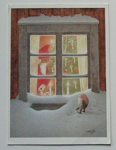 LENNART HELJE Vintage card 1983 Postally used in 1989