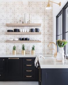 "4,266 Likes, 45 Comments - @scoutandnimble on Instagram: ""This kitchen designed by @nicoledavisinteriors stopped us in our tracks.  So gorgeous! :…"" Condo, Modern Interior Design, Bathroom, Home Decor, Homemade Home Decor, Modern Interior Decorating, Bathrooms, Interior Design, Bath"