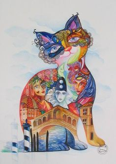 Chat à Venise by Oxana Zaika
