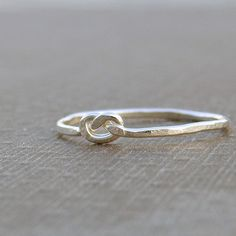 Love knot silver ring thumb ring shiny sterling silver by SAStudio