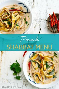 Last Day of Pesach Shabbat Menu with Bone Broth