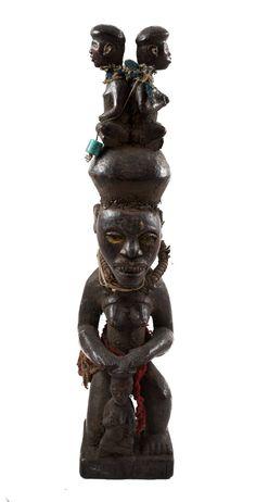 Old African Statue African American Art, African Women, African Artwork, African Masks, Congo, Wood Carving, Statues, Metal Working, Folk Art