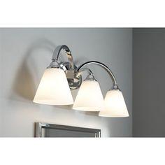 Portfolio 3-Light Cape Brook Polished Chrome Bathroom Vanity Light