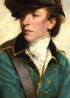 Joshua Reynolds (1723-1792): Portrait of Sir Banastre Tarleton (detail), 1782