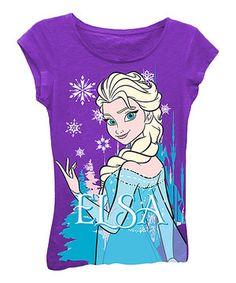 Look what I found on #zulily! Purple 'Elsa' Tee - Girls by Frozen #zulilyfinds