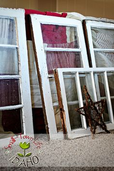 Ideas for old windows = now if someone would tear a house down with perfect windows