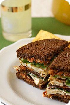 Vegetarian Club Sandwich w/ Sundried Tomato Pesto  (try smoked tofu)