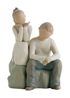 Demdaco Willow Tree Figurine, Brother and Sister