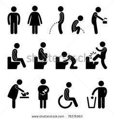 Toilet Bathroom Male Female Pregnant Handicap Public Sign Symbol Icon Pictogram By Leremy Via Shutterstock