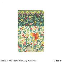 Shop Delilah Flower Pocket Journal created by Wonderlus. Floral Tie, Floral Design, Business Notes, Boho Flowers, Free Recycle, Passport Cover, Vintage Floral, Hand Sewing, Pocket