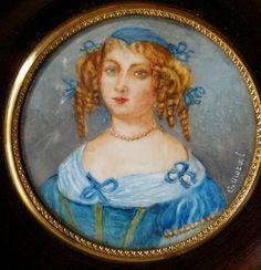 MINIATURE PORTRAIT PAINTING Of Marie de Rabutin-Chantal, Marquise de Sévigné