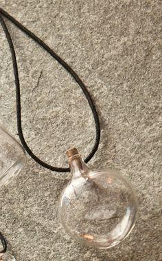 one hand blown glass bottle pendant hand sculpted by jenn goodale blown glass bottle pendant