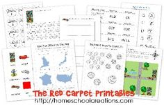 Free #preschool and #kindergarten early learning printables for The Red Carpet by Rex Parkins. #ece
