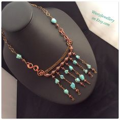 A personal favourite from my Etsy shop https://www.etsy.com/uk/listing/227582321/turquoise-wire-wrapped-necklace-handmade