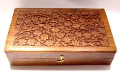Hand Carved Wooden Box Made in India