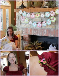 'cute as a button' baby shower :)
