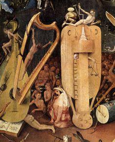 Hell (detal) // The Garden of Earthly Delights Triptych (right panel) / Tríptico del jardín de las delicias // 1490-1500 // El Bosco (Hieronymus Bosch)