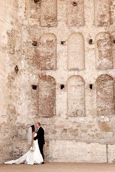 Beautiful couple shot at their California cowboy wedding, photos by Joan Allen via junebugweddings.com