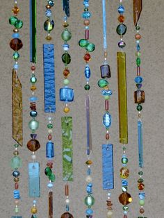 Stained Glass Wind Chime - Glass Windchimes - Suncatcher - Light Catcher - Glass Mobile - Outdoor Decor - 7597