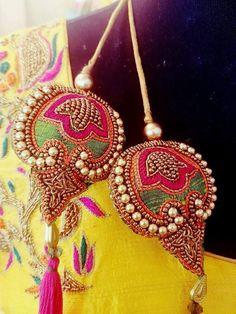 Aqua Mint 5 yards Imported Sari Silk Ribbon Jewelry Making Silk Tassel DIY