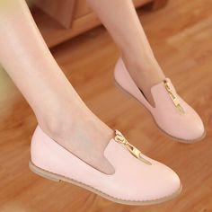 Дешевое Новое поступление мода основные модели круглый носок плоские туфли женские квартиры розовый фиолетовый прямая поставка, Купить Качество Балетки непосредственно из китайских фирмах-поставщиках:                Горячие продукты